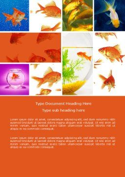 Various Goldfishes Word Template, Cover Page, 04762, Agriculture and Animals — PoweredTemplate.com