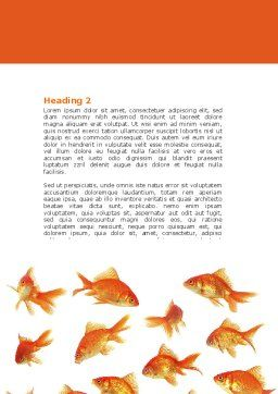 Various Goldfishes Word Template, Second Inner Page, 04762, Agriculture and Animals — PoweredTemplate.com