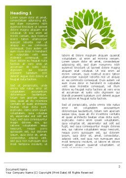 Ecology Word Template, First Inner Page, 04765, Nature & Environment — PoweredTemplate.com