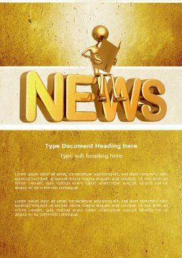 Latest News Word Template, Cover Page, 04766, Careers/Industry — PoweredTemplate.com