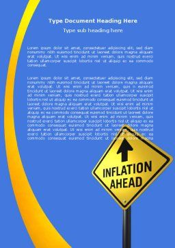 Inflation Threat Word Template, Cover Page, 04767, Financial/Accounting — PoweredTemplate.com