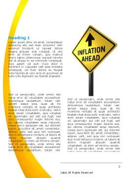 Inflation Threat Word Template, First Inner Page, 04767, Financial/Accounting — PoweredTemplate.com