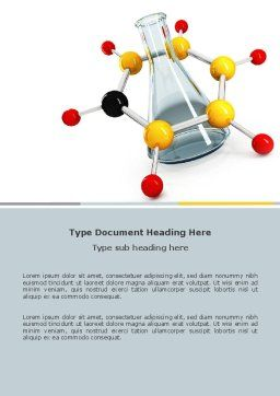 Organic Chemistry Word Template, Cover Page, 04773, Education & Training — PoweredTemplate.com