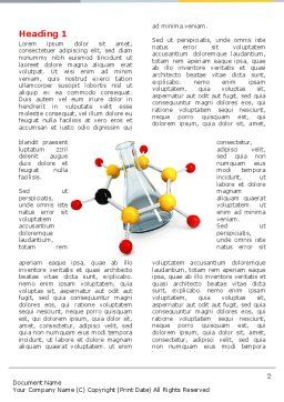 Organic Chemistry Word Template, First Inner Page, 04773, Education & Training — PoweredTemplate.com