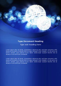 Disco Mirror Ball Word Template, Cover Page, 04778, Careers/Industry — PoweredTemplate.com