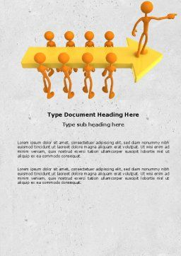 Specified Direction Word Template, Cover Page, 04780, Consulting — PoweredTemplate.com