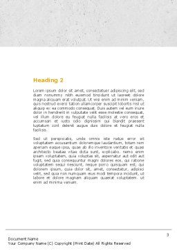 Specified Direction Word Template, Second Inner Page, 04780, Consulting — PoweredTemplate.com