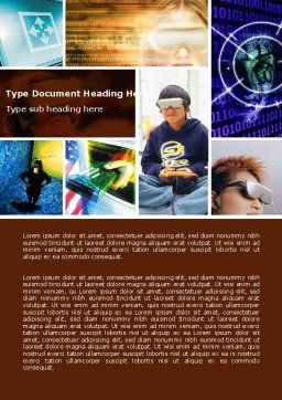 Virtual Reality Collage Word Template, Cover Page, 04782, Technology, Science & Computers — PoweredTemplate.com