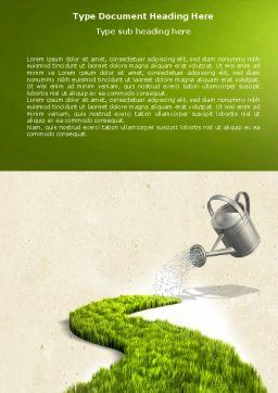 Green Path Word Template, Cover Page, 04785, Nature & Environment — PoweredTemplate.com