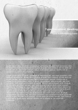 Teeth Word Template, Cover Page, 04787, Medical — PoweredTemplate.com