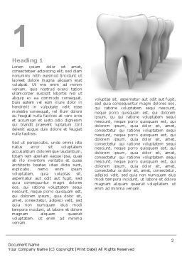 Teeth Word Template, First Inner Page, 04787, Medical — PoweredTemplate.com