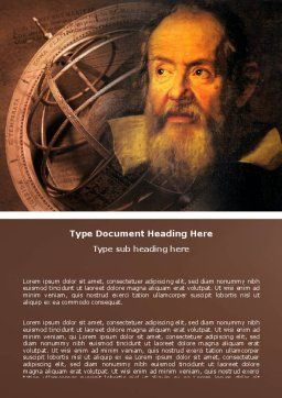 Galileo Galilei Word Template Cover Page