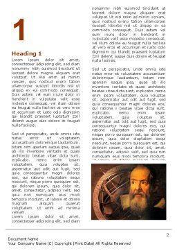 Galileo Galilei Word Template, First Inner Page, 04788, Education & Training — PoweredTemplate.com