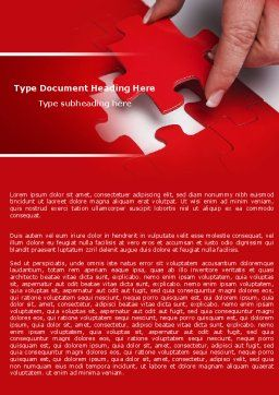 Red Piece Word Template, Cover Page, 04790, Consulting — PoweredTemplate.com