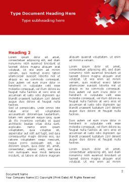 Red Piece Word Template, First Inner Page, 04790, Consulting — PoweredTemplate.com