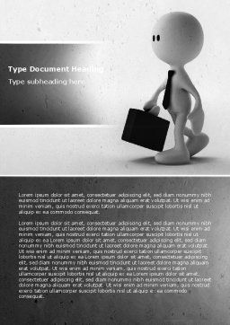 Business Man Word Template, Cover Page, 04793, Business — PoweredTemplate.com
