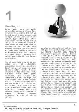 Business Man Word Template, First Inner Page, 04793, Business — PoweredTemplate.com