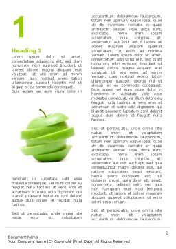 Sliced Green Apple Word Template, First Inner Page, 04794, Food & Beverage — PoweredTemplate.com