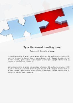 Destination Puzzle Word Template, Cover Page, 04797, Consulting — PoweredTemplate.com