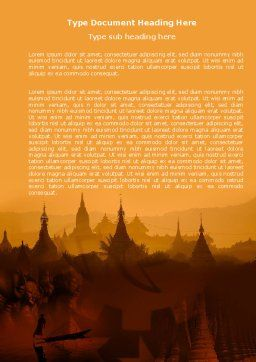 Burma Word Template, Cover Page, 04798, Flags/International — PoweredTemplate.com