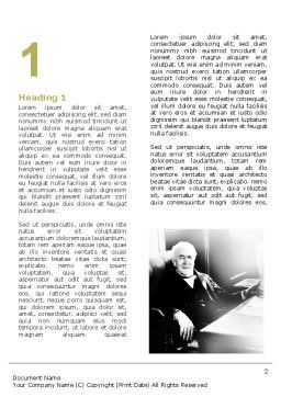Thomas Edison Word Template, First Inner Page, 04802, Education & Training — PoweredTemplate.com
