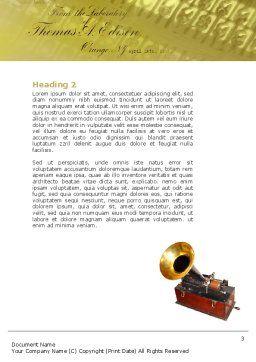 Thomas Edison Word Template, Second Inner Page, 04802, Education & Training — PoweredTemplate.com