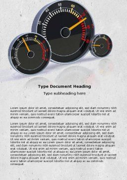 Speedo Word Template, Cover Page, 04804, Cars/Transportation — PoweredTemplate.com