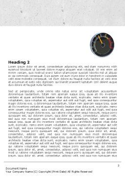 Speedo Word Template, Second Inner Page, 04804, Cars/Transportation — PoweredTemplate.com