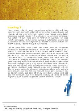 Economic Progress Word Template, Second Inner Page, 04805, Consulting — PoweredTemplate.com