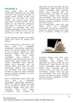 eLearning Word Template First Inner Page