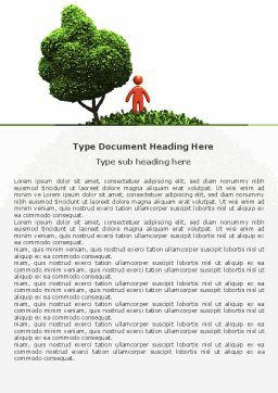 Green Development Word Template Cover Page