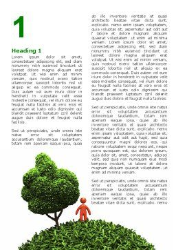 Green Development Word Template First Inner Page