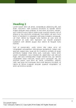 Green Development Word Template Second Inner Page