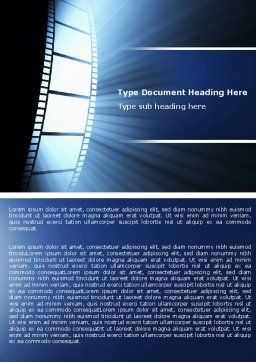 Film Tape Word Template, Cover Page, 04812, Careers/Industry — PoweredTemplate.com