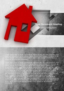 Housing Solution Word Template, Cover Page, 04813, Financial/Accounting — PoweredTemplate.com