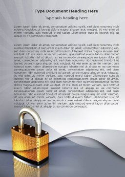 Lock Word Template, Cover Page, 04814, Consulting — PoweredTemplate.com