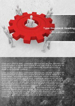 Working Gear Word Template, Cover Page, 04816, Business Concepts — PoweredTemplate.com