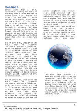 World Web Word Template, First Inner Page, 04819, Telecommunication — PoweredTemplate.com