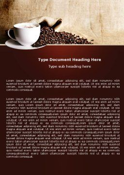 Coffee Break With Cappuccino Word Template, Cover Page, 04820, Food & Beverage — PoweredTemplate.com