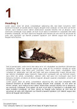 Coffee Break With Cappuccino Word Template, First Inner Page, 04820, Food & Beverage — PoweredTemplate.com