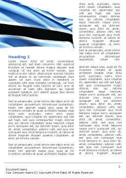Botswana Word Template, First Inner Page, 04822, Flags/International — PoweredTemplate.com