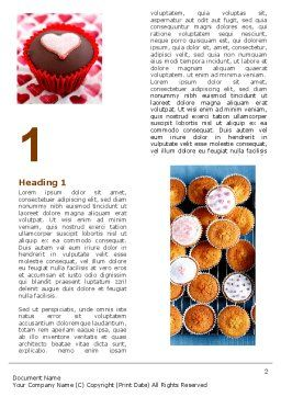 Cupcakes Word Template, First Inner Page, 04823, Food & Beverage — PoweredTemplate.com