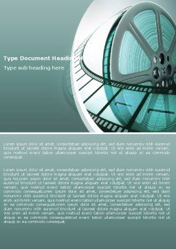 Film Reel Word Template, Cover Page, 04827, Careers/Industry — PoweredTemplate.com