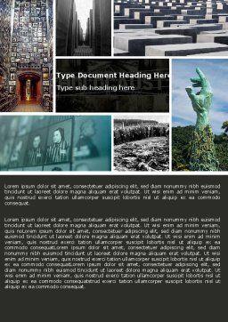 Holocaust Word Template, Cover Page, 04833, Religious/Spiritual — PoweredTemplate.com