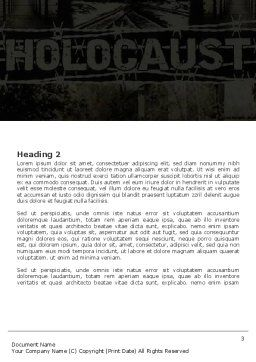 Holocaust Word Template Second Inner Page