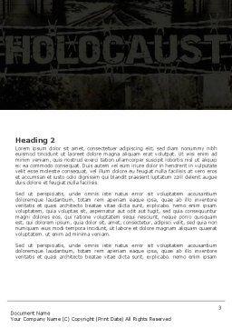 Holocaust Word Template, Second Inner Page, 04833, Religious/Spiritual — PoweredTemplate.com