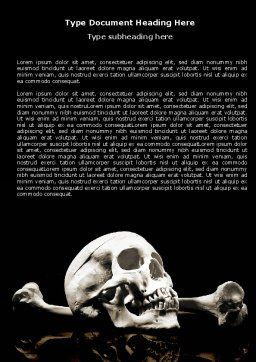 Skull And Bone Word Template, Cover Page, 04834, Education & Training — PoweredTemplate.com