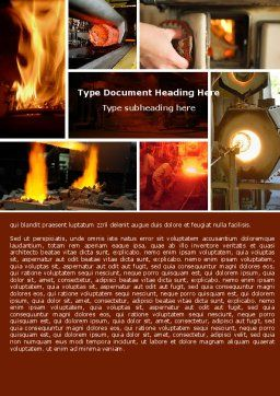 Metallurgy Word Template, Cover Page, 04835, Utilities/Industrial — PoweredTemplate.com