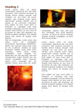 Metallurgy Word Template, First Inner Page, 04835, Utilities/Industrial — PoweredTemplate.com