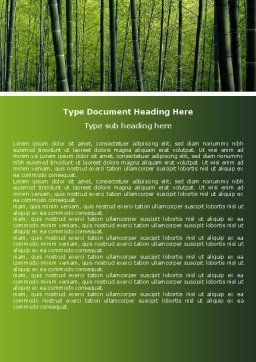 Bamboo Word Template, Cover Page, 04836, Nature & Environment — PoweredTemplate.com